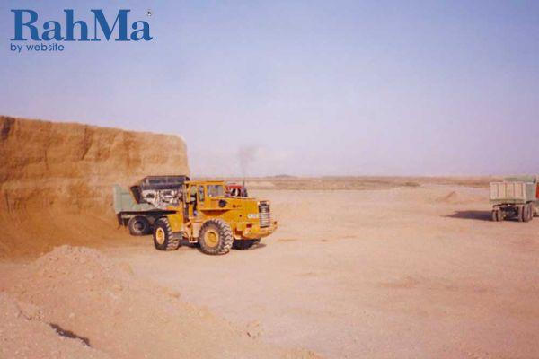 عملیات خاکبرداری مسیر باند