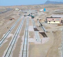 اجرای راه آهن داخلی معدن سنگ آهن سنگان