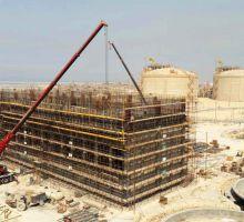 سیویل و سازه بتنی برج های خنک کننده سایت 3 پتروشیمی بوشهر