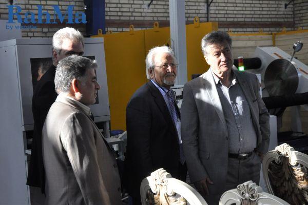 مراسم بازدید از کارخانه شرکت بین المللی انتقال فن غرب 1396